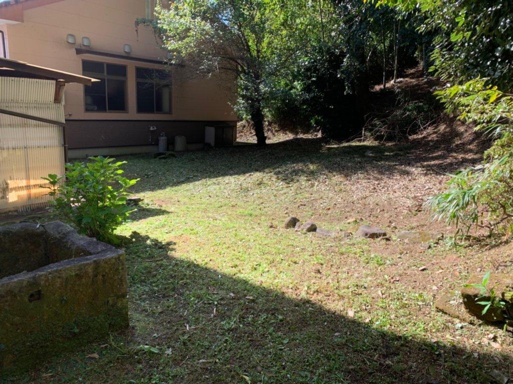 作業後。地面を覆っていた雑草は綺麗に無くなりスッキリと。